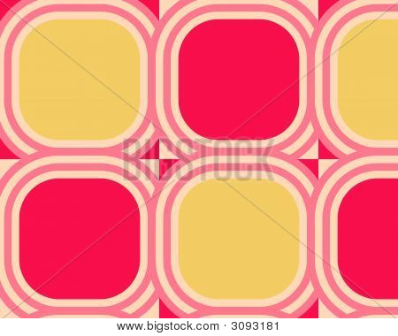 Op Art Scaled Rounded Circles Red Yellow Pink