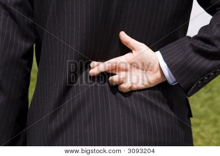 Businessman Lie