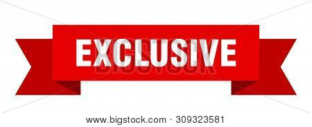 Exclusive Ribbon. Exclusive Isolated Sign. Exclusive Banner