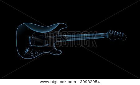 X-ray of a guitar.