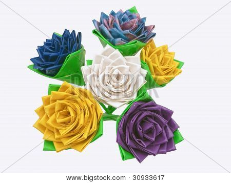 Bouquet of Duct Tape Flowers