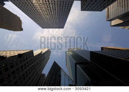 Skyscrapers Downtown In Manhattan
