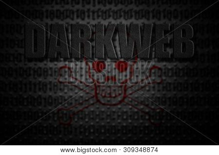 Darkweb Concept With Skull And Crossbones Background
