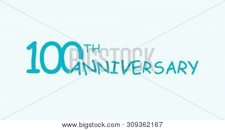 100 Anniversary Logo Concept. 100th Years Birthday Icon. Isolated Golden Numbers On White Background