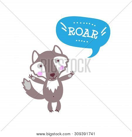 Cute Baby Wolf Funny Vector & Photo (Free Trial) | Bigstock