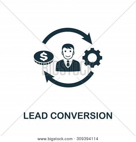 Lead Conversion Vector Icon Symbol. Creative Sign From Crm Icons Collection. Filled Flat Lead Conver