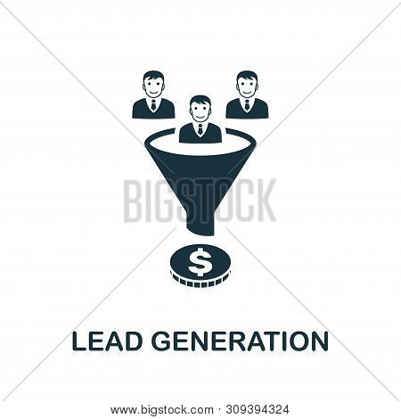 Lead Generation Vector Icon Symbol. Creative Sign From Crm Icons Collection. Filled Flat Lead Genera