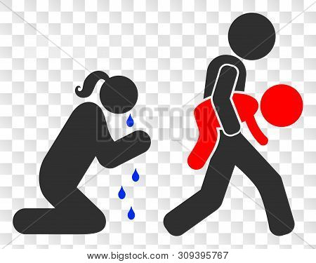 Juvenile Justice And Mother Eps Vector Pictograph. Illustration Contains Flat Juvenile Justice And M