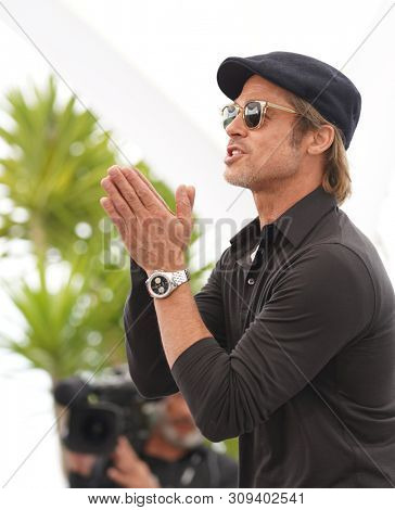 Brad Pitt attends the photocall for