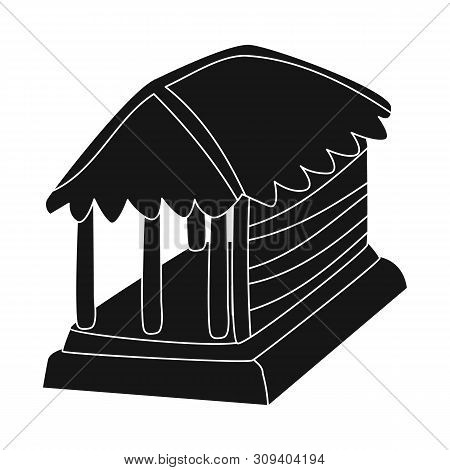 Vector Design Of Hut And House Symbol. Collection Of Hut And Gazebo Stock Symbol For Web.