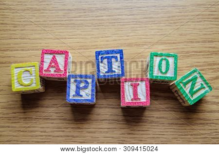 Educational Toy Cubes With Letters Organised To Display Word Caption - Editing Metadata And Search E