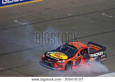 June 23, 2019 - Sonoma, California , USA: Martin Truex Jr. (19) wins the TOYOTA/SAVE MART 350 at Sonoma Raceway in Sonoma, California .