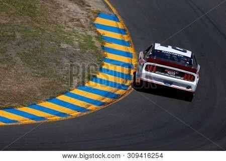 June 21, 2019 - Sonoma, California , USA: Brad Keselowski (2) practices for the TOYOTA/SAVE MART 350 at Sonoma Raceway in Sonoma, California .