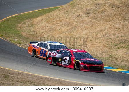 June 21, 2019 - Sonoma, California , USA: Austin Dillon (3) takes to the track to practice for the TOYOTA/SAVE MART 350 at Sonoma Raceway in Sonoma, California .