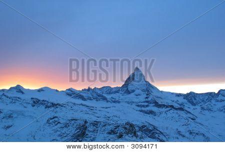 Sunset And Matterhorn