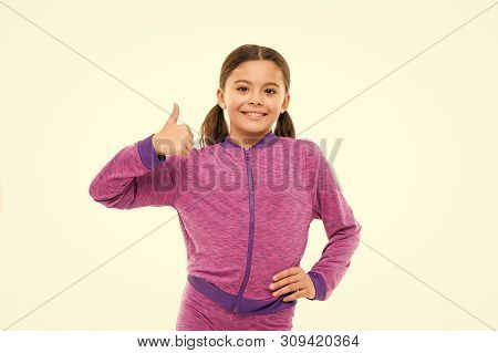 This Is Awesome. Girl Cute Child Show Thumbs Up Gesture. Gifts Your Teens Will Totally Love. Kid Sho