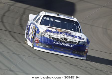 LAS VEGAS, NV - MARCH 10:  Mark Martin (55) practices for the Kobalt Tools 400 race at the Las Vegas Motor Speedway in Las Vegas, NV on March 10, 2012.