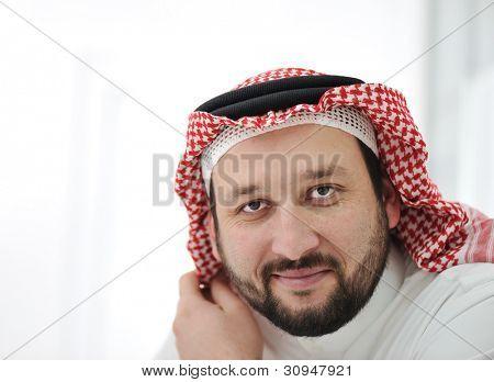 Portrait of arabic adult male