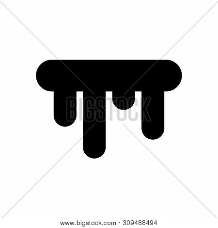 Color Icicles Weather Icon In Simple Style. White Icicles Isolated On White Background. Climate Sign