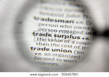 The Word Or Phrase Trade Surplus In A Dictionary