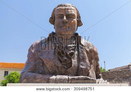 Ajaccio, France - July 6, 2015: Statue Pascal Paoli, Ajaccio City, Corsica Island