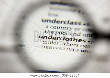 The Word Or Phrase Underclothes In A Dictionary