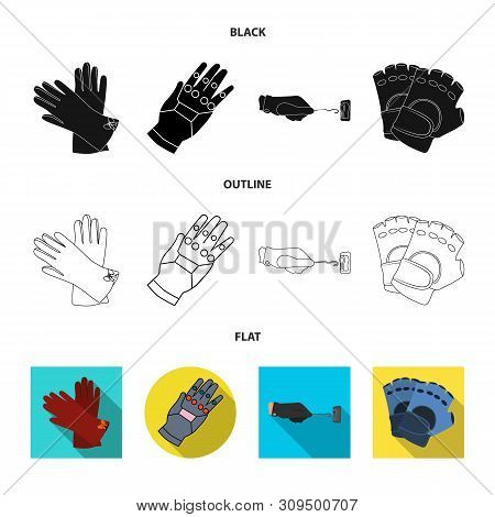 Vector Illustration Of Knitted And Keeper Symbol. Collection Of Knitted And Hand Vector Icon For Sto
