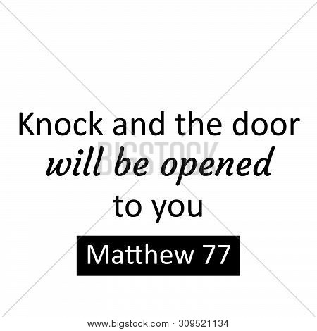 Christian Faith, Biblical Phrase From Matthew ,typography For Print Or Use As Poster, Card, Flyer Or
