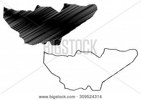 Baja Verapaz Department (republic Of Guatemala, Departments Of Guatemala) Map Vector Illustration, S