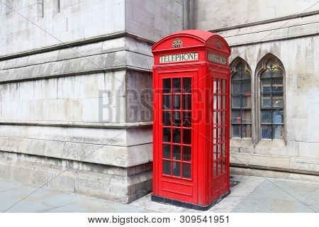 London Red Telephone. English Symbol - Phone Booth.