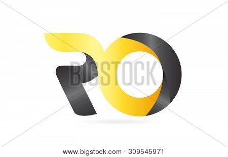 Joined Or Connected Ro R O Yellow Black Alphabet Letter Logo Combination Suitable As An Icon Design
