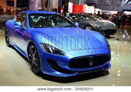 GENEVA - MARCH 12: Maserati Gran Turismo Sport on display at 82nd Geneva Motor Show on March 12, 2012 in Geneva, Switzerland.