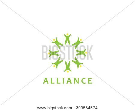 Alliance Poeple Logo - Design Illustration- White Background Illustartion Design