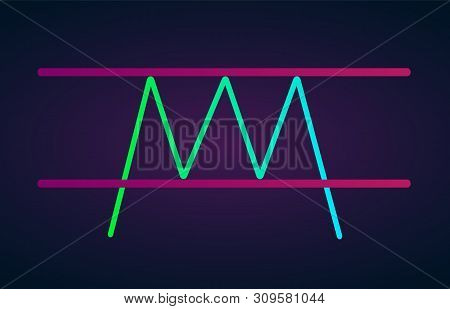Tripple Top Pattern Figure Technical Analysis. Vector Stock And Cryptocurrency Exchange Graph, Forex