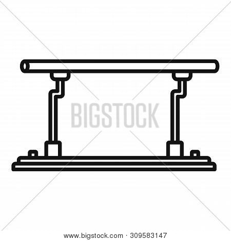 Parallel Bars Icon. Outline Parallel Bars Vector Icon For Web Design Isolated On White Background