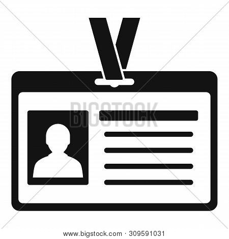 Id Badge Icon. Simple Illustration Of Id Badge Vector Icon For Web Design Isolated On White Backgrou
