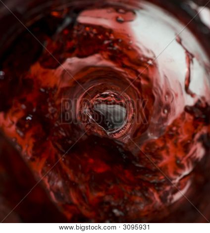 Wine Pouring Inside The Bottle
