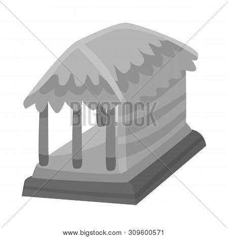Isolated Object Of Hut And House Symbol. Set Of Hut And Gazebo Stock Symbol For Web.