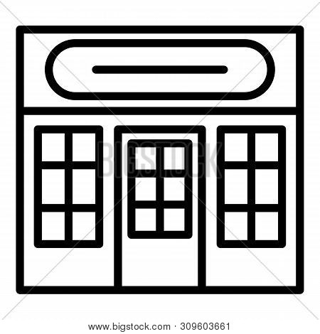Storefront Icon. Outline Storefront Vector Icon For Web Design Isolated On White Background