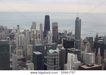 Chicago aerial view.