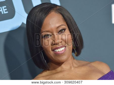 LOS ANGELES - JAN 13:  Regina King arrives to the 24th Annual Critics' Choice Awards  on January 19, 2019 in Hollywood, CA