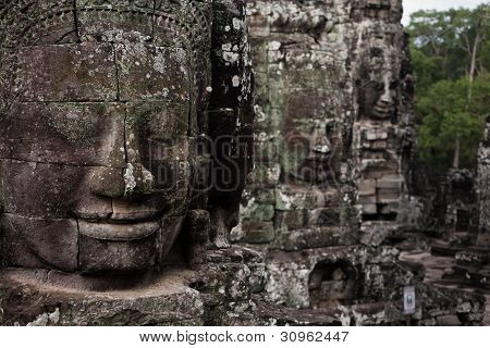 Ancient Faces Angkor Temple