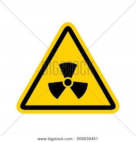Radioactive Icon Nuclear Symbol. Uranium Reactor Radiation Hazard. Radioactive Toxic Danger Sign Des