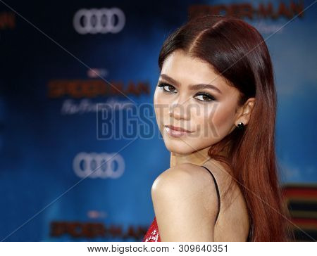 Zendaya at the World premiere of 'Spider-Man Far From Home' held at the TCL Chinese Theatre in Hollywood, USA on June 26, 2019.