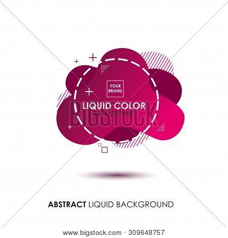 Abstract Liquid Banner With Line Frame And Brand Placing Logo
