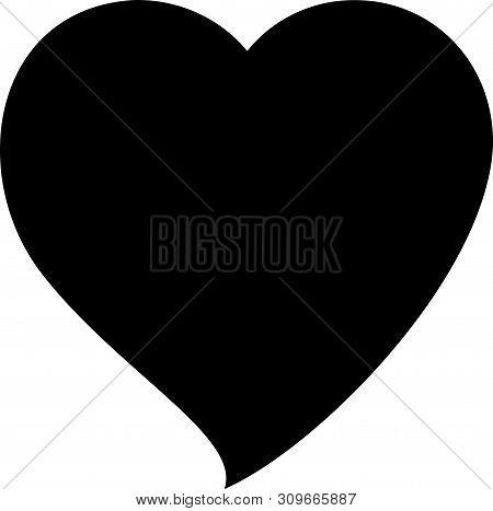 Heart Icon. Heart Icon Black Isolated With White Background. Heart Icon Image. Heart Icon Logo. Hear