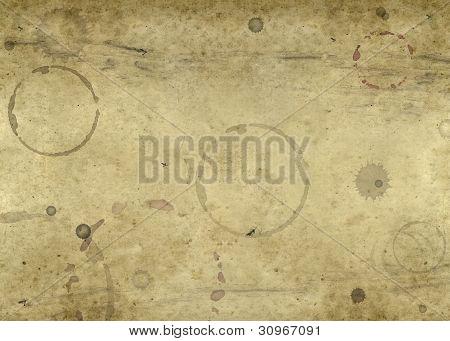 Old Blotched Paper Background