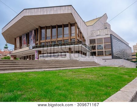 Gyor, Hungary 05 13 2019 : National Theater Gyor, The Main Theater In Gyor
