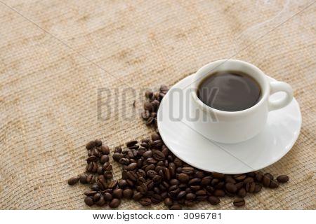 Café de taza caliente