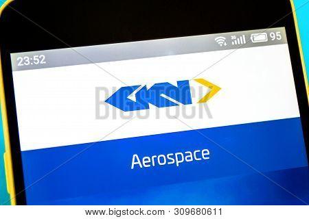 Berdyansk, Ukraine - April 12, 2019: Gkn Website Homepage. Gkn Logo Visible On The Phone Screen.
